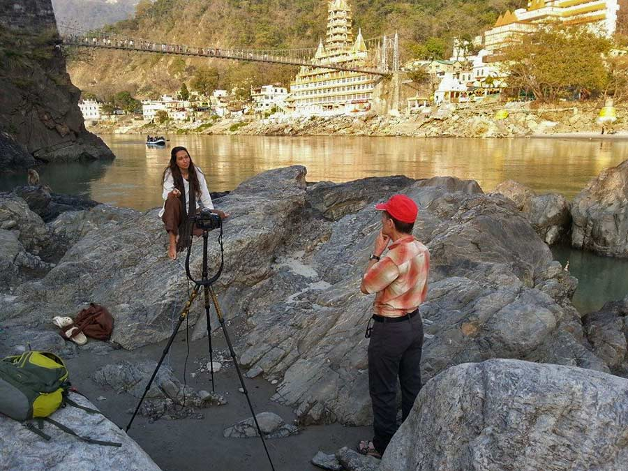 Filming in Rishikesh 2014