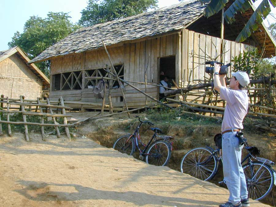 filming in Laos